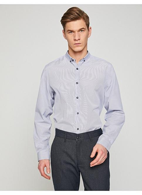 693e0db449af1 Koton Erkek Gömlek Mavi Çizgili İndirimli Fiyat | Morhipo | 22705519